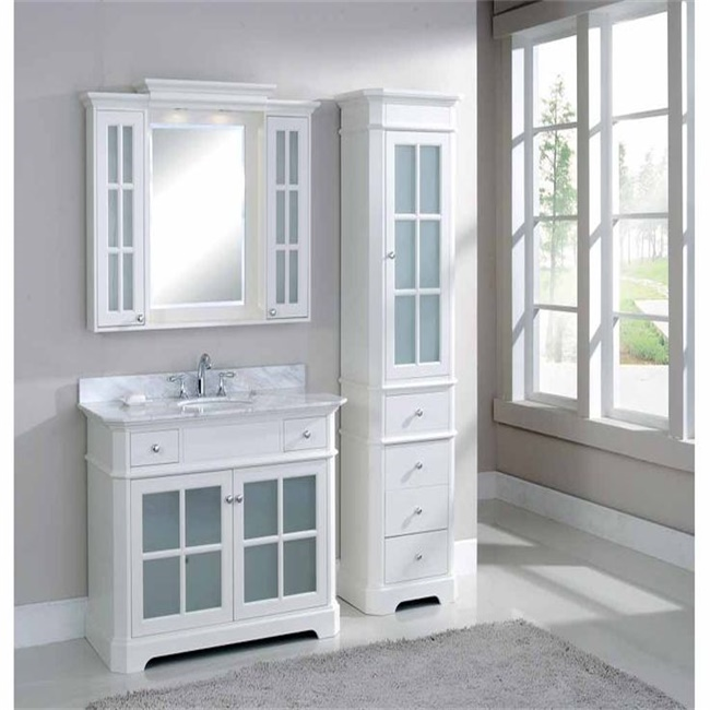 Foshan factory supply direct over sink white bathroom cabinet small vanity sink combo