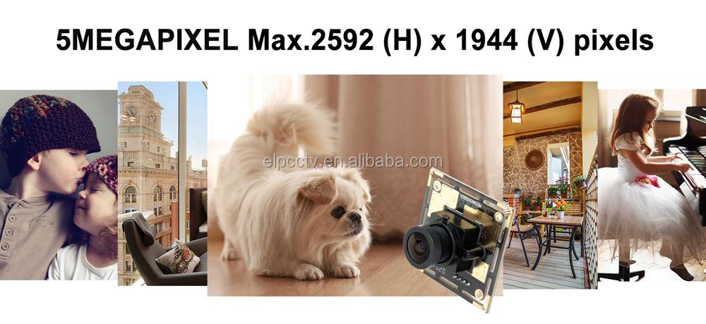 ELP OEM 170Degree Wide Angle USB 2 Webcam CMOS OV5640 5MP Fisheye Camera Module for Android ,Linux,Windows