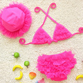 2016 Cute Girl Swimsuit Summer Children Split Two piece Swimsuit Girls Bikini Beautiful Bikini Children s