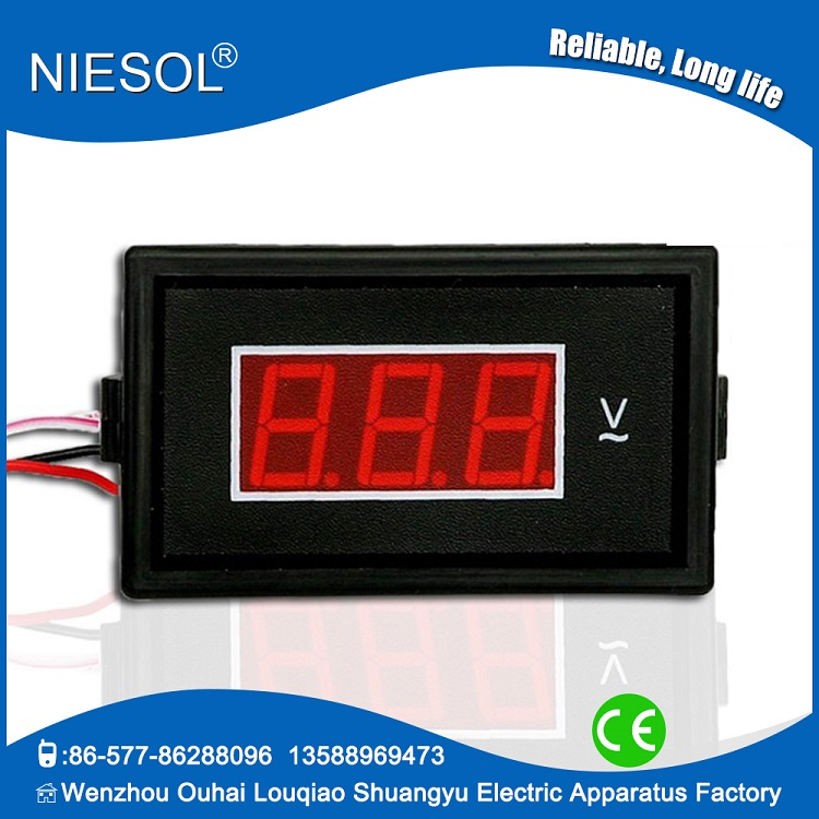 Supply 85DM-50V AC led mini digital ac voltmeter 9V