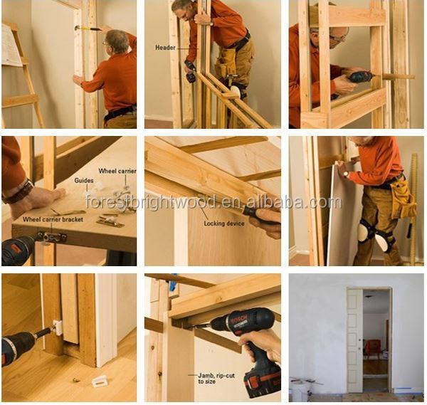 Habitación Interior Mdf Correderas De Madera Maciza Puerta De ...
