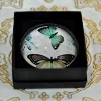 High k9 crystal glass custom image butterfly glass paperweight for bitrhday gift
