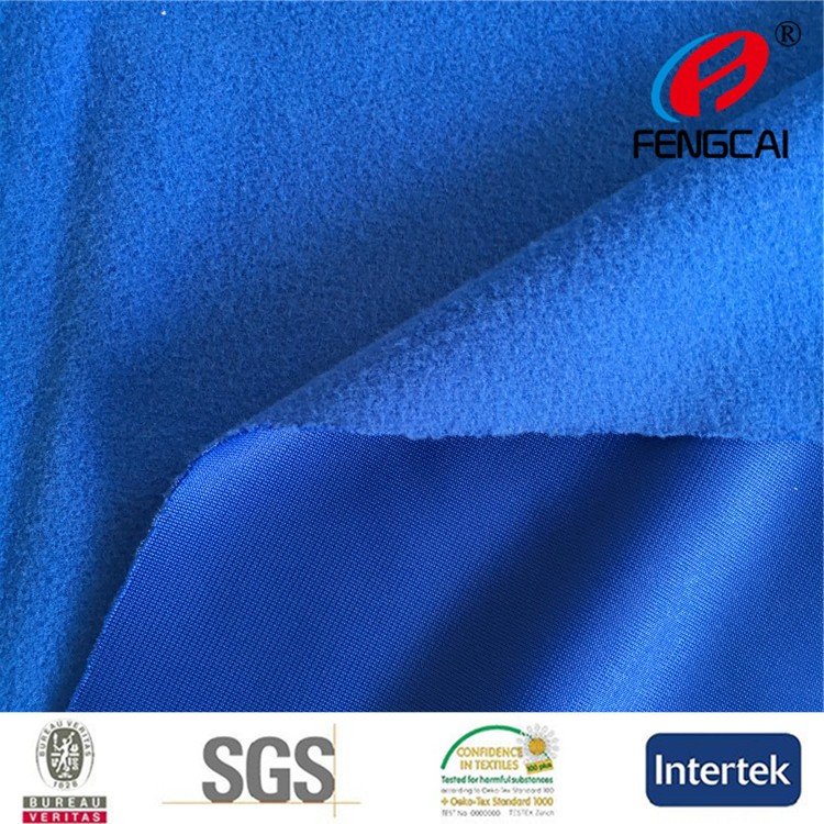 Alibaba China Manufacturer directly sell soft handfeel 100 polyester tricot brushed fabric for school uniform