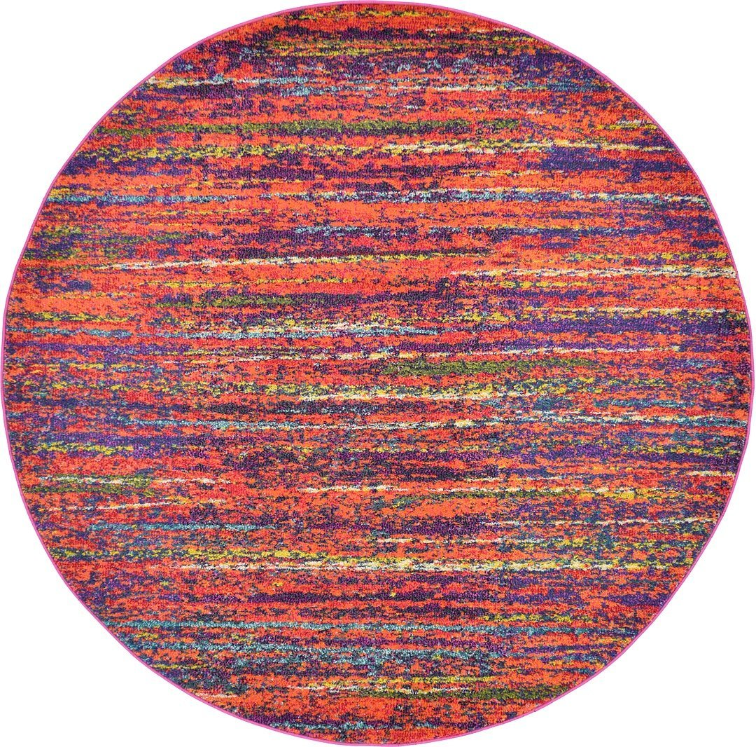 A2Z Rug Modern Mayfair Collection, Multi 6-Feed-by-6-Feed Area Rugs - Contemporary Living & Dinning & Bedroom Carpet