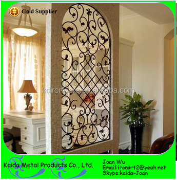 Beautiful Wrought Iron Room Dividersscreens Design With Scrolls