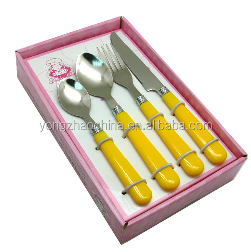 Flatware Cutlery Set with wire basket, Spoon, Fork, Knife