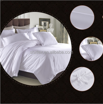 Wholesale Hotel 4 Piece Polyester Cotton 50/50 180TC White Bedding Set/bed sheet