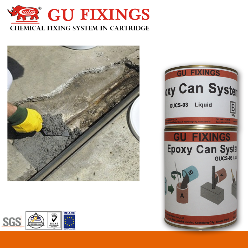 Low shrinkage tile adhesive and grout epoxy resin