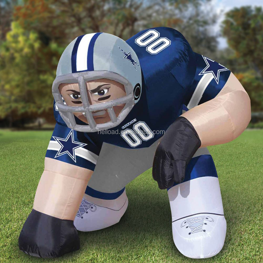 custom made gaint inflatable nfl football player, large inflatable lawn figure for sale