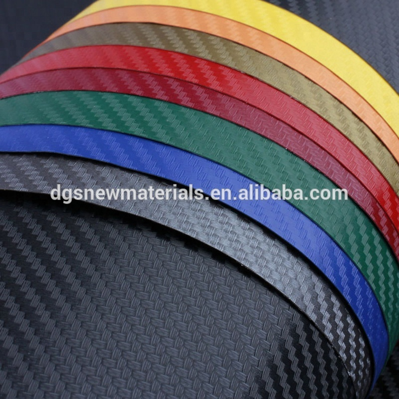 Colorful 3D Carbon Fiber Car Warp Vinyl film Car Color Changing