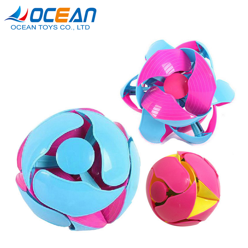Children throwing ball sport game color change magic transform ball toys