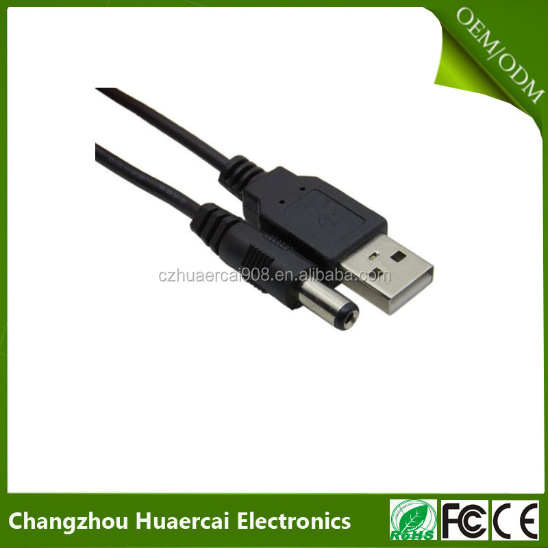 USB 2.0 to 5.5 mm/2.5 mm 5 Volt DC Barrel Jack Power Cable
