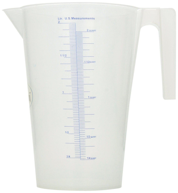 Get Quotations 2l Measuring Pitcher Plastic Handle Heavy Duty Liters Quarts Cups Kitchen Garage