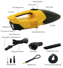 New ce 2017 china ningbo factory vehicle 12v 120w 4000PA super strong power modern 4 in 1 bagless drum led car vacuum cleaner