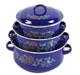 110ED Cast Iron parini cookware casserole Enamel Cooking Pot sets