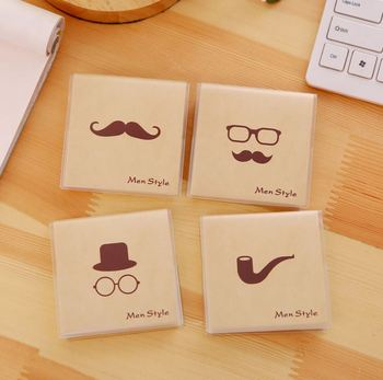 Mustache Series Korean Cartoon Creative Gum Cover Stationery Notepad Office Supplies School Cute Filofax Notebook Diary