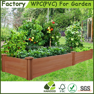 Wood Plastic Composite Garden Raised Bed WPC Vegetable Garden Raised Bed