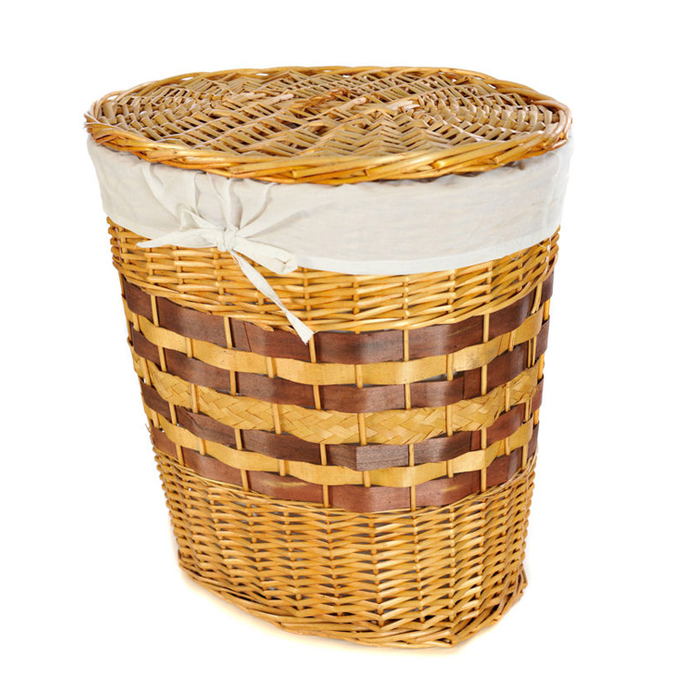 woven laundry hamper water hyacinth