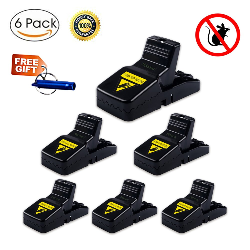 Mouse Trap - Mice Trap Rat Traps Mouse SnapTraps for Mice - Sensitive Reusable and Durable-Effective Sanitary Mouse traps that work (6 PACK)