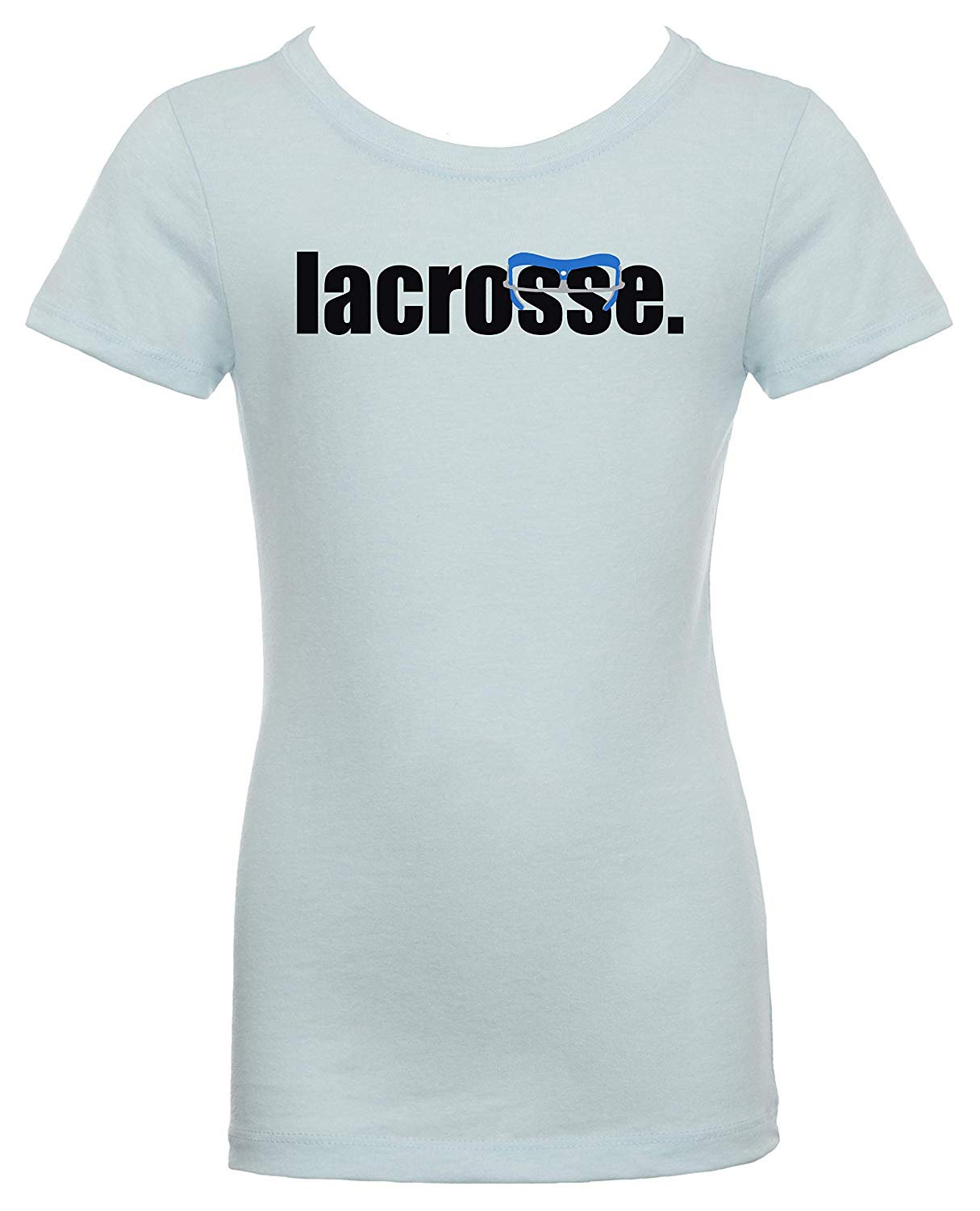 Get Quotations · LAX SO HARD Girls Lacrosse Goggle Blue T-Shirt 7d6ea87d8