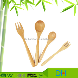 Whole sale Chinese Cheap High Quality Eco-friendly Beech Wood Spoon and Fork Set for Children