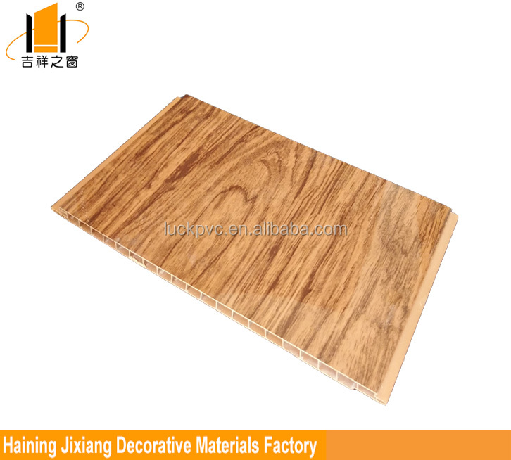 Types of ceiling materials printing wood pattern eco friendly PVC wall panels