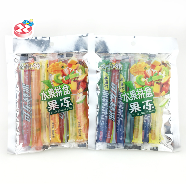 Halal bagged fruit-flavored jelly drink stick flavored Jelly Candy Stick Jelly Drink For Kid