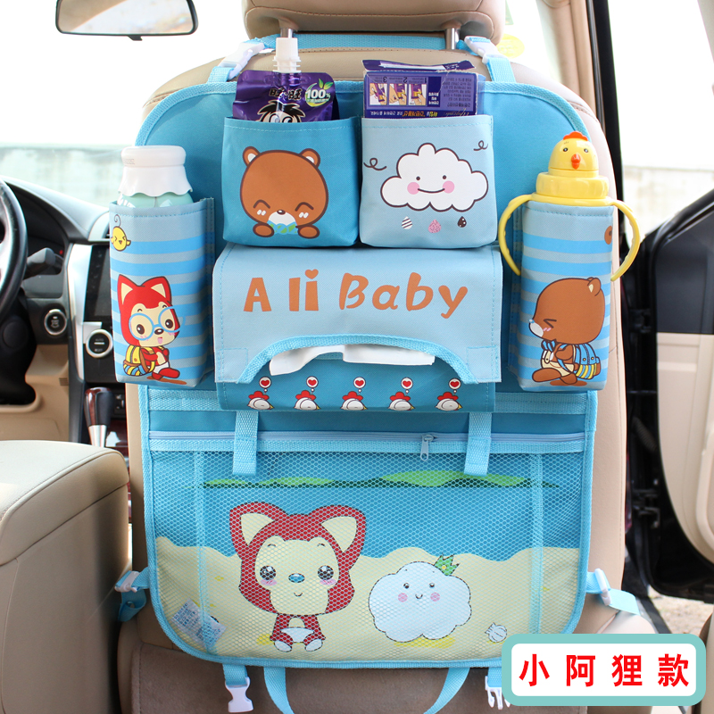 Multifunctional Car Seat Back Organizer To Organize All Kids Travel Accessories