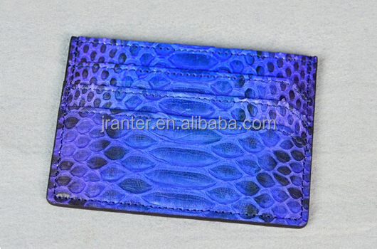 Handmade 100% Python Skin Card Holder Genuine Leather Card Holder Manufacturer