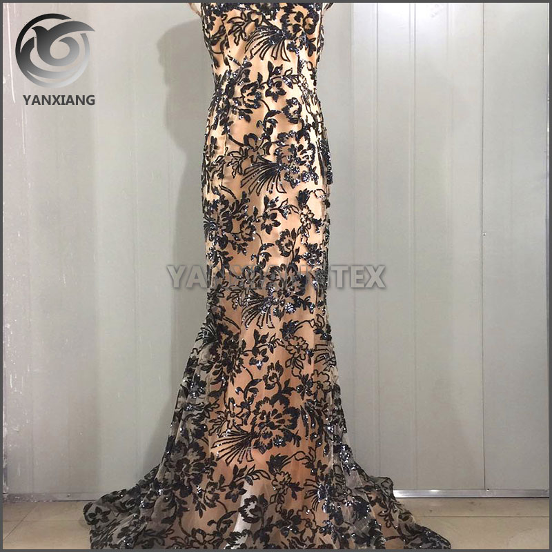 Custom Wholesale Fashion Sequin Lace Fabric