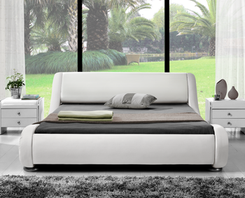 Contemporary Backrest Soft Headboard Leather Bed Frame Buy Bed