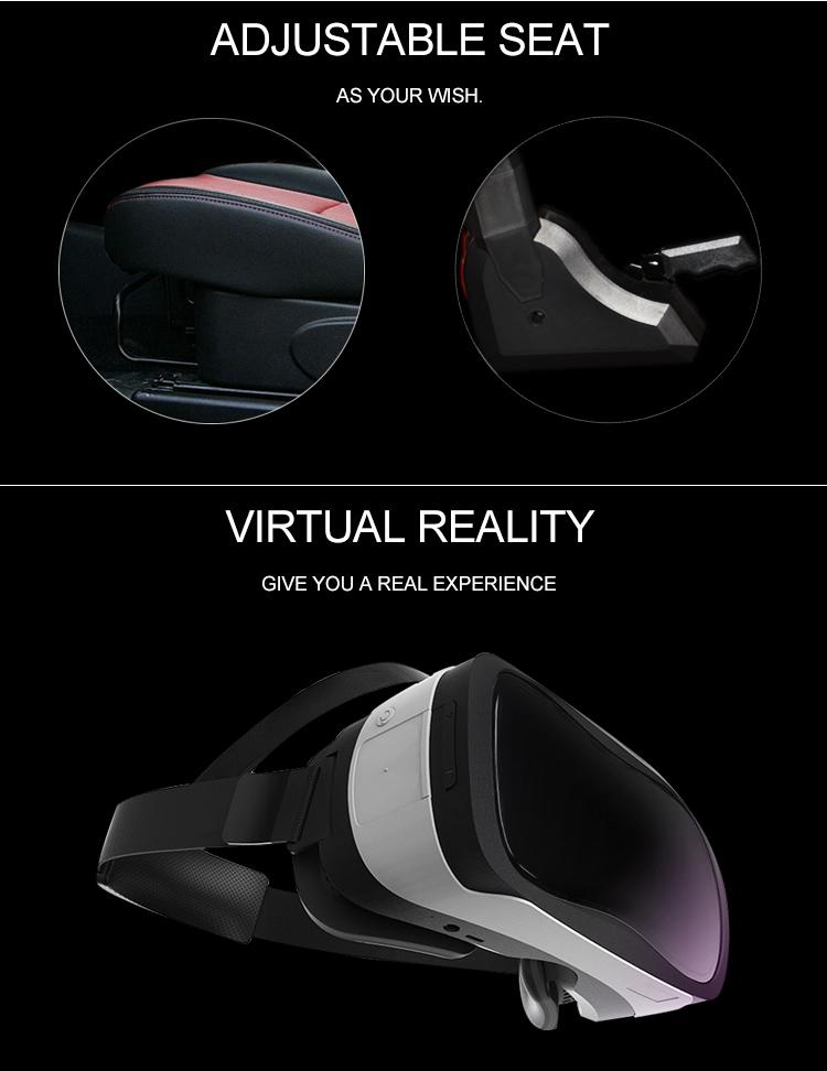 Popüler 3 EKRAN VR Araba yarışı yeni stil video oyun makinesi f1 simülatörü teşvik diğer eğlence parkı ürünleri