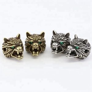 Alloy lion head accessories ancient gold antique silver DIY jewelry loose bead Leopard head accessories