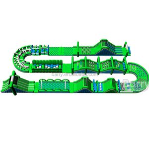 High quality crazy giant the beast adult inflatable obstacle course for sale