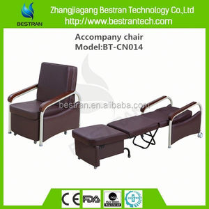 BT-CN014 Super quality sleeping chair, manual adjustable wooden hospital chair beds for sale