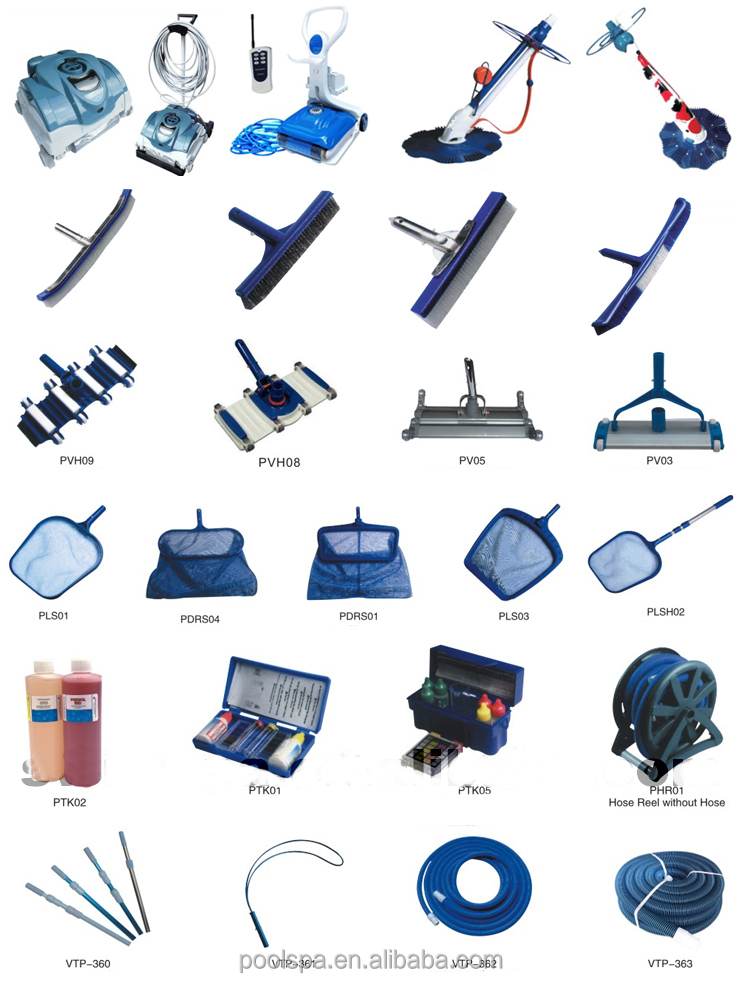Wholesale china factory a full set of swimming pool for Swimming pool accessories