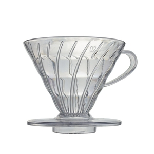 H Amazon Hot Sale Wholesale V60 Heat-resistant resin Transparent White Coffee Dripper High Quality Coffee Filter Baskets