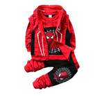 Autumn Boys Clothing Sets Kids Coat jacket+T Shirt+Pants 3 Pcs Children Sport Suits Baby Boys Spider Man Clothes Set