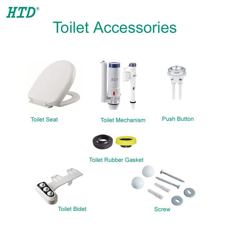 UPC Bathroom Toilet Plate Dual Push Button Flush Valve for Concealed Cistern