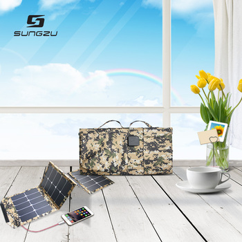 60W Foldable Waterproof Solar Panel 3 USB Ports for Laptop, Notebook, Digital Cameras, Tablets, phones