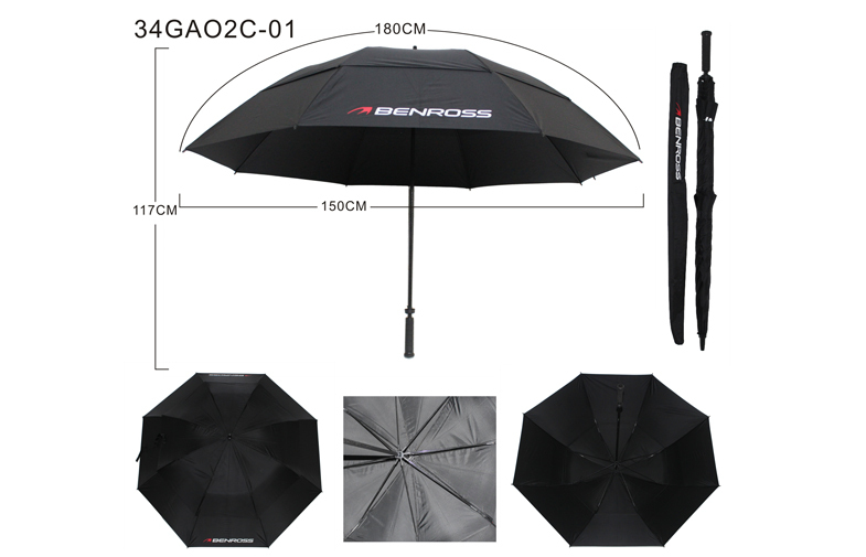 68 Inch Big Size Promotional Golf Umbrella Double Canopy