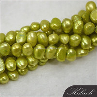 Wholesale cultured baroque green pearls for making jewelry