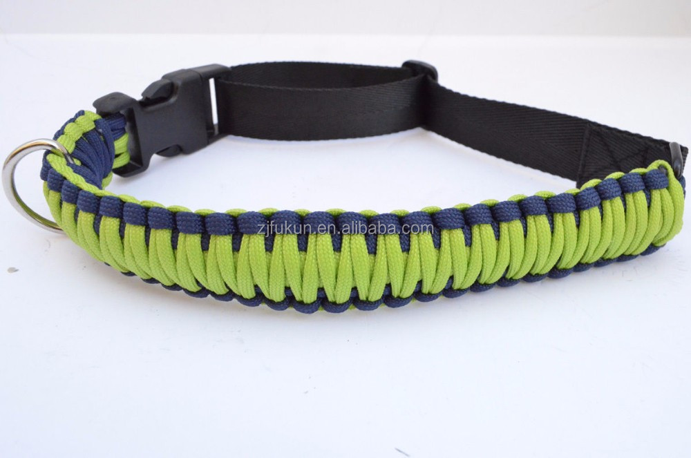 newest handmade 550 paracord dog collar and leash set