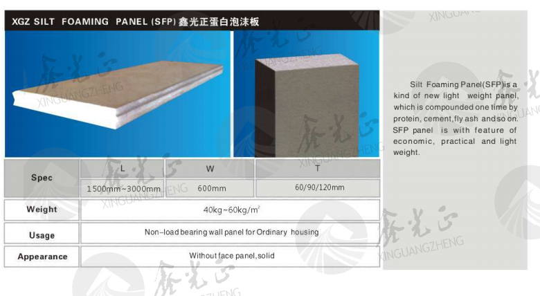 XGZ Light weight sandwich EPS cement panel
