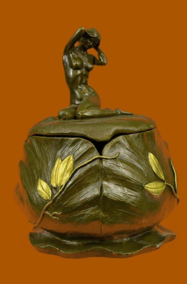 0bba87043cb5 European Bronze Sculpture French Jugendstil Art Nouveau Nude Signed .