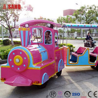 Attractive electric trackless train for kids and adults