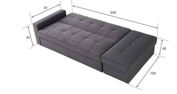 Low Price Living Room Nordic Fabric An Sofa Bed