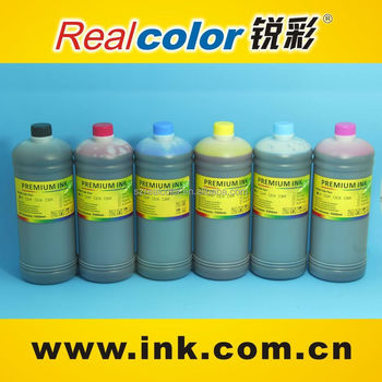 New design 1000ml bottle for epson pigment ink with 4 color black magenta yellow cyan