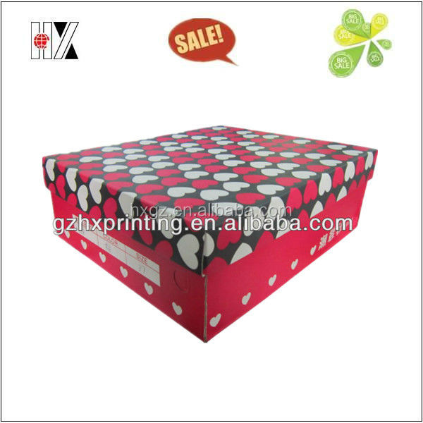 Low price full color paper shoes boxes packaging storage with logo design