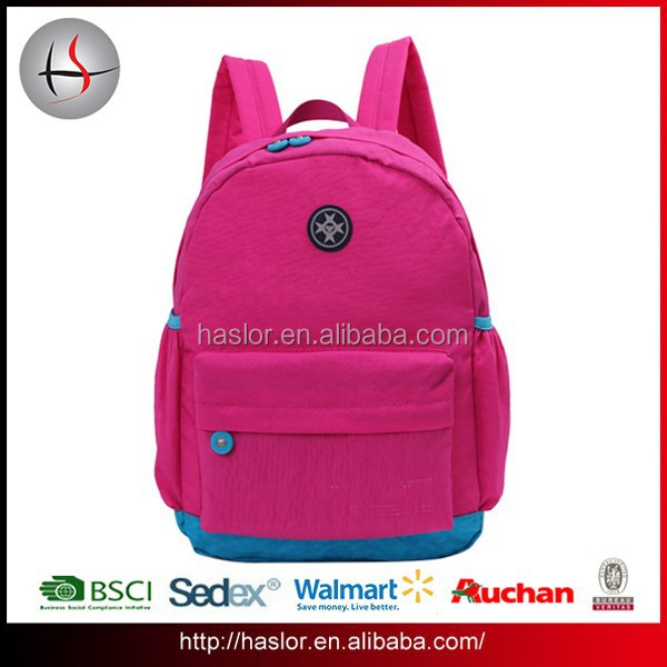2016 Fashion day backpack bright color leisure backpack for teens